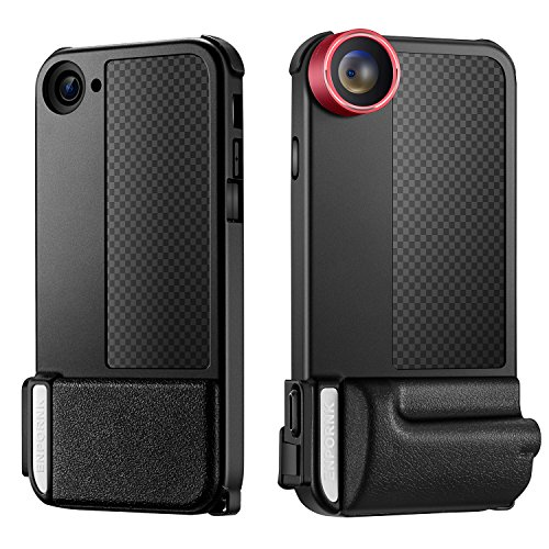 iPhone Camera Case / Lens for iPhone 7 , Included 3 in 1 Fisheye Lens & Macro Lens & Super Wide Angle Lens