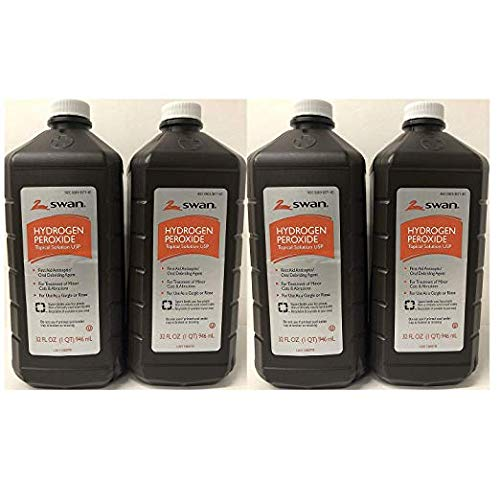 Hydrogen Peroxide Topical Solution 32 Oz (4 Pack)