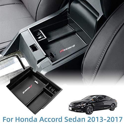 VESUL Center Console Armrest Storage Box Fit for Honda Accord Sedan 2013 2014 2015 2016 2017 ABS Tray Insert Organizer Glove Pallet