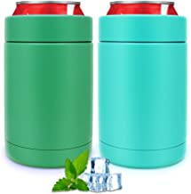 2 Pack of Can Cooler, Slim Double-walled Stainless Steel Insulated Thermocoolers for 12 Oz Slim Cans, Beer/Cola/Soda/Bever...