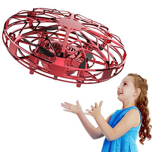 Uong Mini Drohne für Kinder, UFO Spielzeug RC Fliegender Ball, Handsensor Quadcopter Flying Ball Hubschrauber Spielzeug Kinder, Wiederaufladbar mit LED Beleuchtung (3+ Jahre Alt)