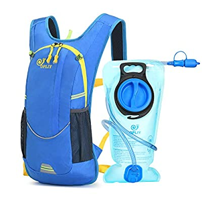 OPLIY Hydration Pack,Hydration Backpack with 2L Hydration Bladder Lightweight Running Water Backpack for Women Men Kids