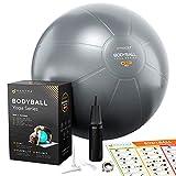 Pelota de Pilates | Balón de Ejercicio | Bola de Embarazada, Yoga, Fitness y Gimnasio - 55cm / 65cm...