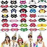 Superhero Masks for kids, 35 PCS Eye Masks Set Birthday Party Favors Decorations, Children Masquerade Avengers Super Heroes Cosplay Supplies