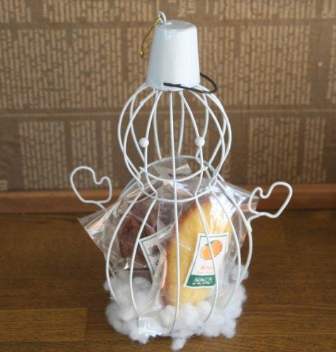 スノーマンケージ(和歌山産柑橘フルーツのマドレーヌが2種入った雪だるま型クリスマス・冬ギフト・焼き菓子ギフト)