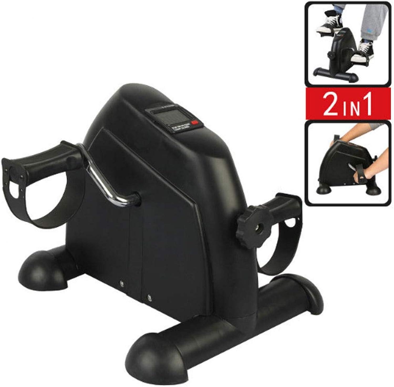 HAOHOAWU Pedal Exerciser Portable, Mini Heimtrainer Für Arm Oder Fuboden Fupedal Mit LCD-Display (Schwarz)