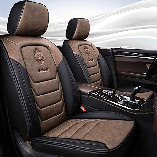 YSHUAI Funda de asiento de coche de piel sintética para asientos de coche Dacia Duster Sandero Step