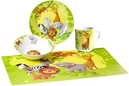 Ritzenhoff & Breker - Jeu d'assiettes et tasses - Motif animaux de la jungle Set vaisselle coloré
