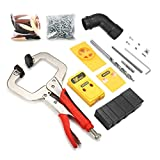 ❶COMPLETE ACCESSORIES and HIGH QUALTY in CHEAPER PRICES.one woodworking pocket hole kit is equipped with 10 accessories. ❷OPENING ACCURATE, OPERATION and INSTALL EASY, special tools for woodworking , improve the time and cost. ❸Main Body is made of B...