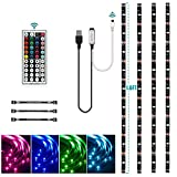 USB LED Strip Lights Kit, Topled Light 4 Pre-Cut 1.64ft/6.56ft LED Light Strips, Color Changing TV Backlights with Remote, RGB 5050 Bias Lighting for TV, PC, Monitor, Home Theater, DIY Decoration
