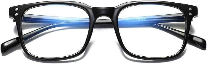 MAGIMODAC Blue Light Blocking Glasses with Case Computer Anti Eyestrain Eyeglasses Eyewear Vintage For Video Gaming