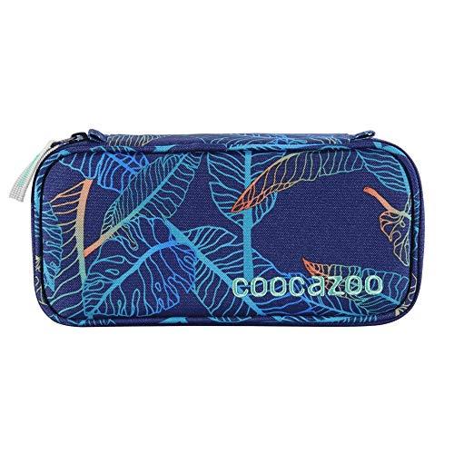 coocazoo Estuche para lápices de Denzel 'Jungle Night', azul, estuche escolar, compartimento para programación, compartimento para bolígrafos extraíble, compartimento adicional con cremallera.