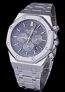 HNOLVH - Reloj Mecánico Automático Hombre Plata Oro Rosa Deporte Limitado Negro Azul Gris Cristal De Zafiro Blanco Trasero
