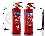 FSS UK Plus - Extintor de polvo seco ABC (2 x 2 kg)