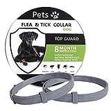 Petsvv 2 Pack Flea Collar for Dogs, 8 Months Prevention of Dog Flea Collars, Repels Fleas & Ticks, Safe and Adjustable