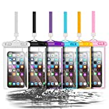 6pcs Universal Waterproof Phone Pouch, Cellphone Dry Bag IPX8 Underwater Waterproof Case Compatible with iPhone 12/11 Pro Max/Pro/8 Plus, Galaxy S21/S20/S10/Note 20/10/9, Plus Phones up to 6.8'