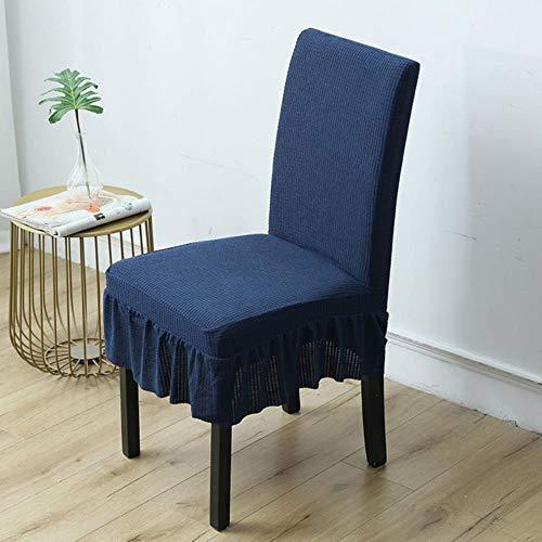 1/2/4 / 6pcs Solid Color Dining Wasserdichter Stuhlbezug h Elastic Back Chair Schonbezug für Stühle Kitchen Banquet-Cyan, 6 PC