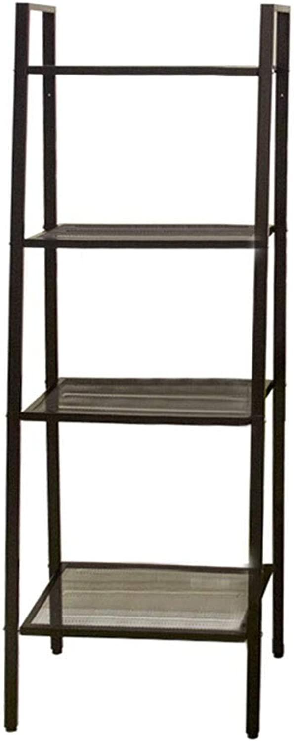 Kitchen Storage Shelf Bedroom Living Room Kitchen Finishing Metal Four-Layer Trapezoidal Creative Storage Rack Balcony Flower Stand Organisation (Size   W-35cm)