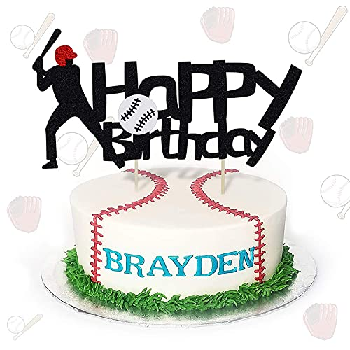 Baseball Party Cake/Cupcake Toppers - Baseball/Sports Games/Match Themed Party Decorations Supplies Hockey/Sport Birthday Party Decorations Supplies Favors Cake Decor