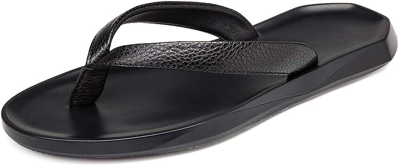 Flip Flops Thong Sandalen Mit Arch Support Leichte Dusche Strand Schuhe Leder rutschfeste Bequeme Hausschuhe Sommer (Farbe  Schwarz, Gre  9 UK)