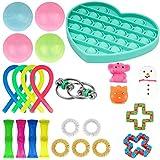 ポップバブルフィジット感覚玩具、アンチストレス玩具、アンチストレスおもちゃ、自閉症、ADHD、ストレスリリーフ、抗不安、カラフルな感覚救済、子供や大人のためのカラフルな感覚の指示の伸び療法のおもちゃ