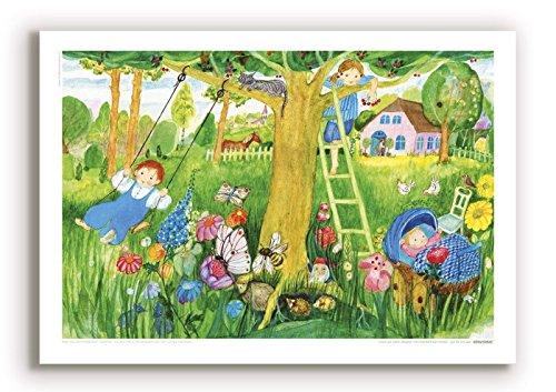 Poster für Kinder von Eva Maria OTT-Heidmann - Kirschenernte - aus dem schnurverlag