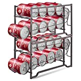 Simple Trending 2-Pack Soda Can Beverage Dispenser Rack, Stackable Can Storage Organizer for pantry or Refrigerator- Dispenser 12 Standard Size 12oz Soda Cans or Canned food, Bronze