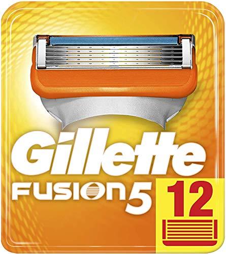 Gillette Fusion 5 Rasierklingen mit Trimmer für Präzision und Gleitbeschichtung, 12 Ersatzklingen
