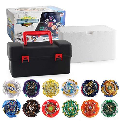 12 Stück Kampfkreisel Set, 4D Fusion Modell Metall Master, Speed Kreisel, Tolles Kinder Spielzeug