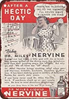 165 Great Tin Sign 1940 Dr. Miles Nervine Tonic Vintage Look Aluminium Metal Sign for Wall Decoration 8x12Inch。