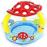 Mopoq Los niños Piscina Inflable del bebé con toldo Vaso de la Piscina Seta del bebé niños de los niños Piscina de Agua al Aire Libre Piscina del Juego Verano