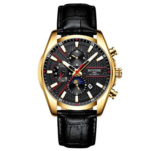 Smartwatches,Multifunktionale Sportmode Hohluhr, Goldenes Gehäuse