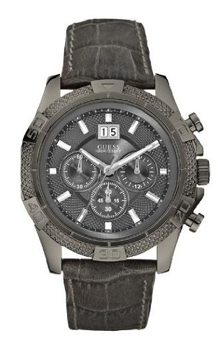 Guess Herren-Armbanduhr XL Phantom Chronograph Quarz Leder W19531G1