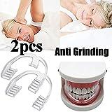 Deyan 2 PCS Herramienta de Ayuda para Dormir de Grado alimenticio Férula para bruxismo Eliminación de la molienda Dental Cuidado bucal Dientes Soporte Dental Salud Dental Protector Dental