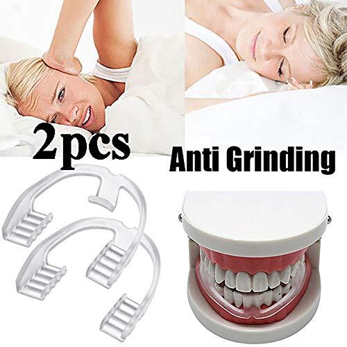Deyan 2 STÜCKE Lebensmittelqualität Schlafmittel Werkzeug Bruxismus Schiene Eliminierende Zahnknirschen Mundpflege Zahnspange Zahngesundheit Zahnschutz