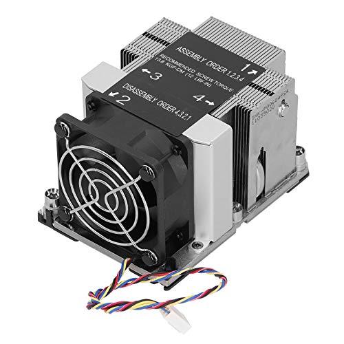 HAOX Disipador de Calor, disipador de Calor TDP de 205 W para Plataforma Purley para LGA 3647-0 para procesador escalable