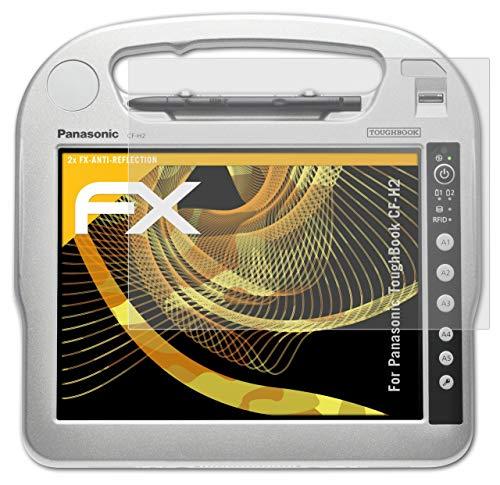 atFolix Panzerfolie kompatibel mit Panasonic ToughBook CF-H2 Schutzfolie, entspiegelnde & stoßdämpfende FX Folie (2X)