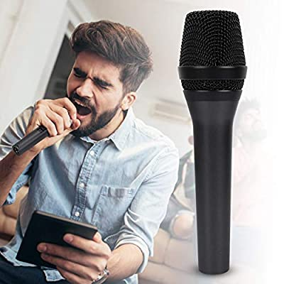 Greensen Microphone Dynamic Cardiogram Microphone, Dynamic Vocal Microphone with Switch Metal Speaker Professional Audio Wired Home Karaoke Hand held Microphone for Singing Speech Wedding Stage