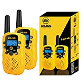 Walkie Talkies for Kids, 22 Channels FRS/GMRS Uhf Two Way Radios 4 Mile Handheld Mini Kids Walkie Talkies for Kids Best Gifts Kids Toys Built in Flashlight 2 Pack - Yellow
