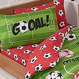 Price Right Home Juego de sábanas y Fundas de Almohada Individuales de fútbol Rojo