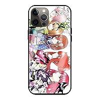 五等分の花嫁 iPhone7 plus iPhone8 plus プラス IPHONE 7 8 ケース スマートフォン 強化ガラスケース 鏡面ガラス ハードケース 耐衝撃 携帯カバン スマホケース アイフォン スマホカバー カバー 小物 コスプレ 携帯電話ケース(05)