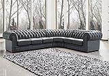 JVmoebel Chesterfield Ecksofa Sofa Couch Ledersofa Polster Eck Couch Garnitur Design #334