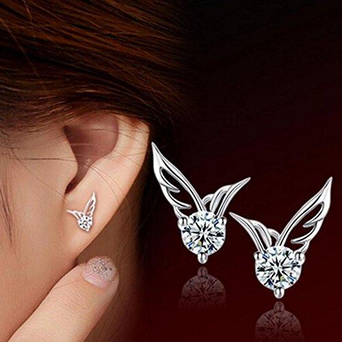Wrone TM Moda donna elegante ali d' angelo ali orecchini ear gioielli 3