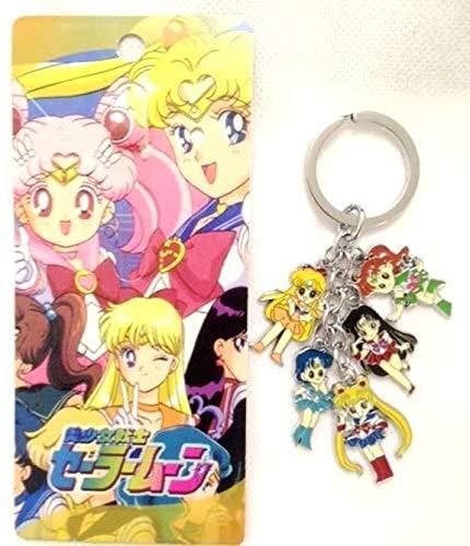 Sailor Moon Metal Charm Keychain 5 in 1