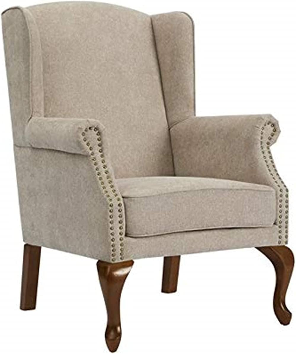 Comfort Pointe Topics on TV Lorell Wingback New arrival Oatmeal Arm - Chair