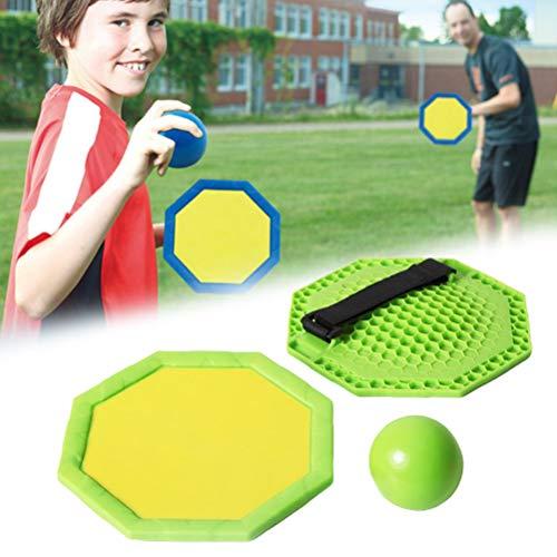 Fyeep 2 raquetas de squash adhesivas con 1 bola de pared adhesiva, juego de squash para regalos infantiles, juego de juegos para la playa y la arena