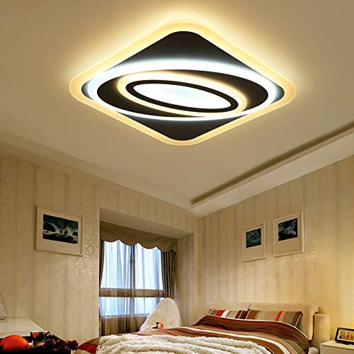 Euroton LED Deckenleuchte 094 mit Fernbedienung Lichtfarbe/Helligkeit einstellbar dimmbar LED Deckenlampe Beleuchtung (094 50x50cm 68W)