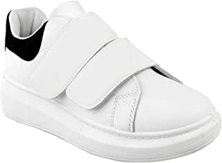 Fashion Thirsty Womens White Alex Oversized New Chunky Sneakers Rubber Sole Trainers Shoes Size