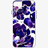 Milk and Honey Purple Flower pattern Clear Case for iPhone 6/6s/7