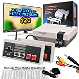Easy 99 Retro Mini Game Console,Built-in 620 Classic Old School NES Game with 2 Controllers, TV HD Output,Nostalgia Gift for Kids Adults Birthday, Back to Childhood,2 Player Games.